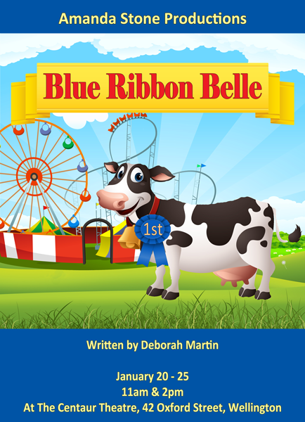 Blue Ribbon Belle Poster