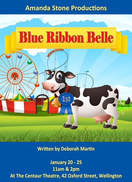 Blue Ribbon Belle Poster